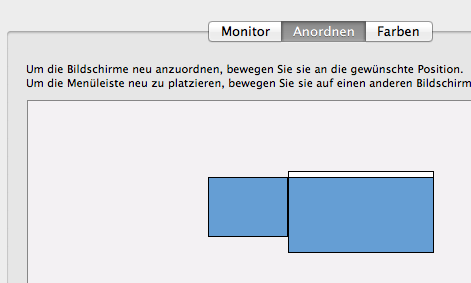 Mac OS X Lion Monitore anordnen